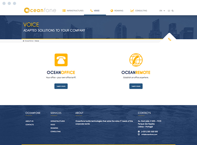Website Oceanfone