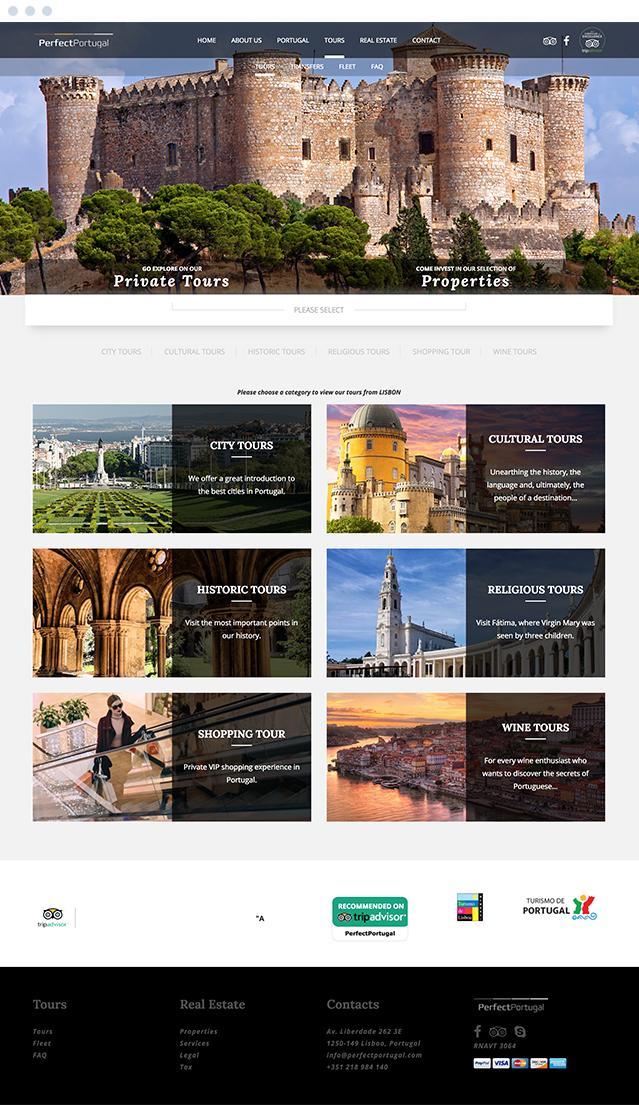 Website PerfectPortugal