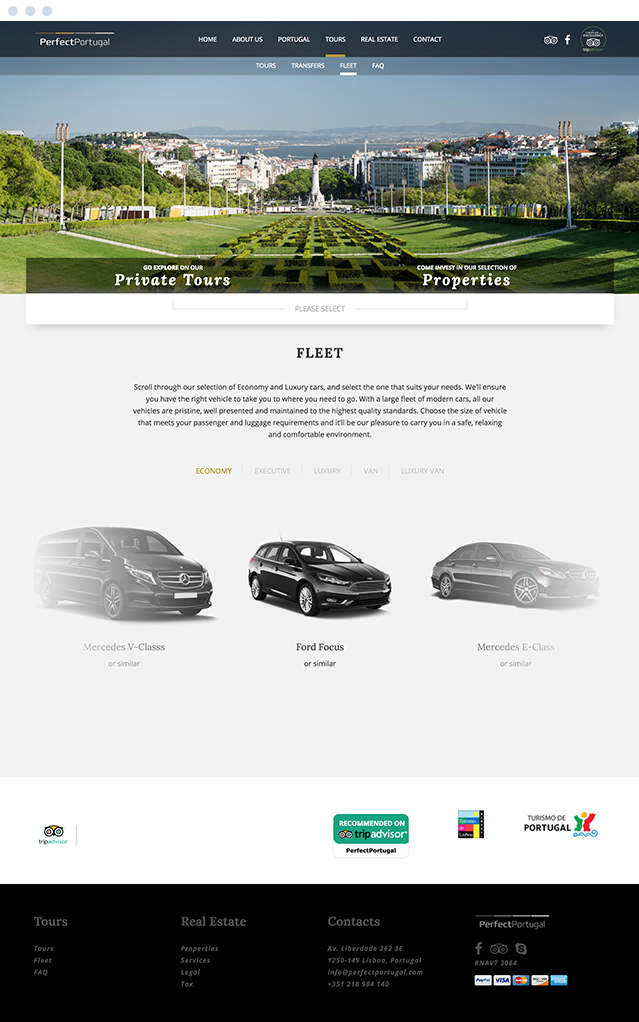 Website PerfectPortugal